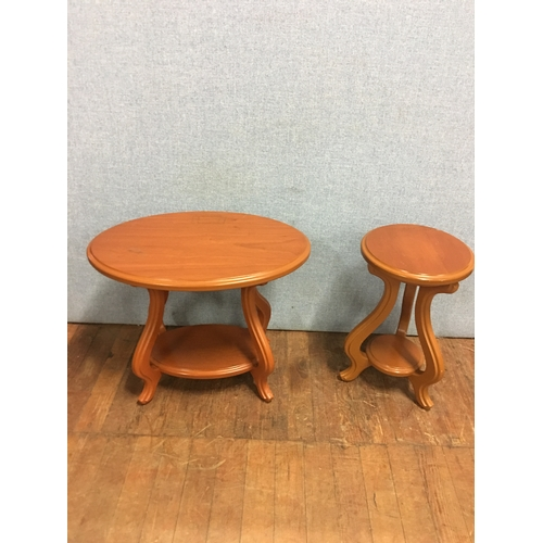 37 - 2 wooden occasional tables...