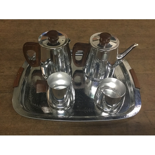 60 - 5 piece Sona plated tea/coffee set...