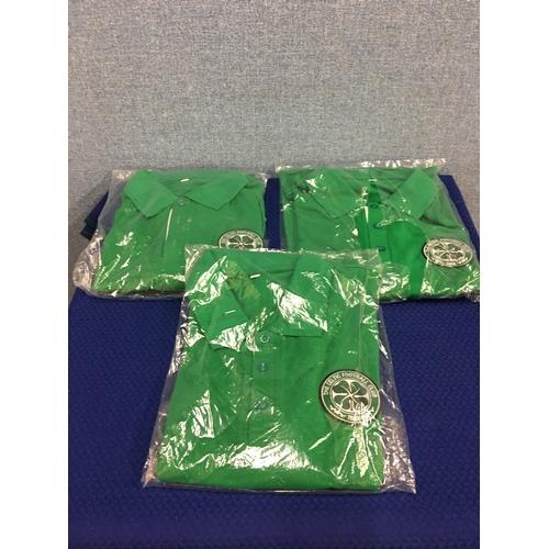 3 - 3 new Celtic polo shirts...