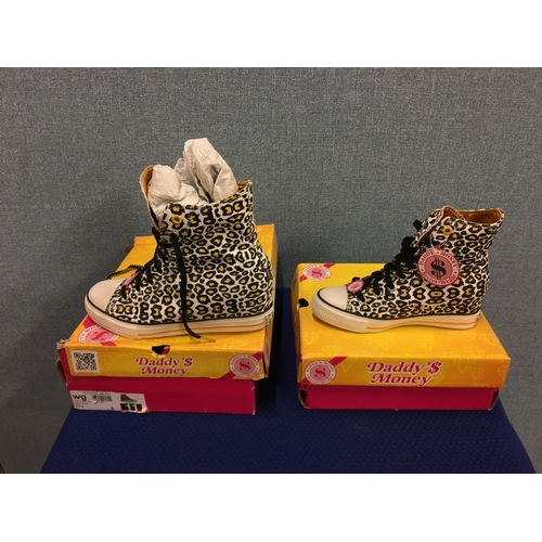 5 - 2 new pairs of ladies hi-tops size 8 and 4...