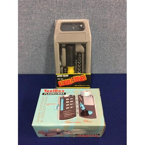 13 - New toolbox/ flashlight & flexible driver tool kit...