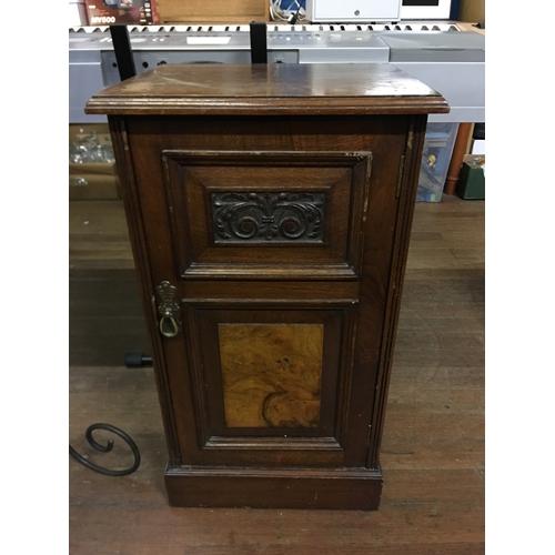 38 - small mahogany pot cupboard...