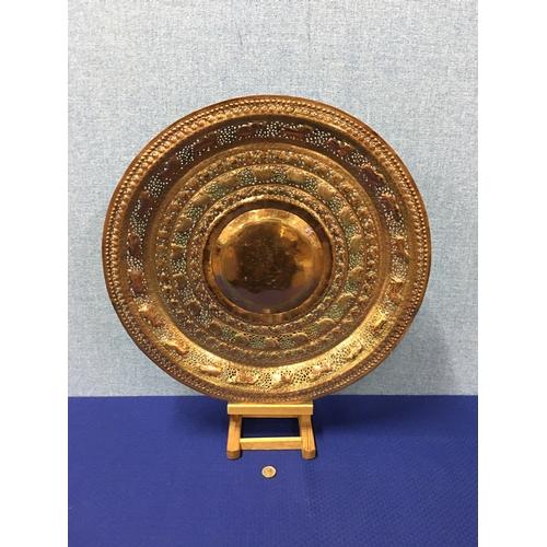 41 - large vintage copper plate...