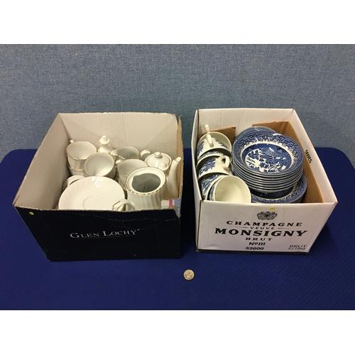 43 - 2 boxes of ceramics...