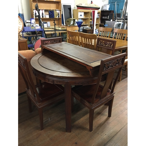 60 - oriental style table & chairs...