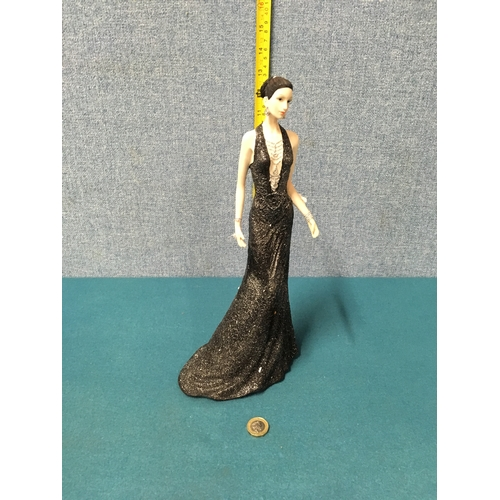 62 - Shudehill Lady in evening gown figurine....