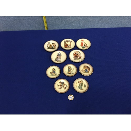 46 - Collection of miniature Hummel plates....
