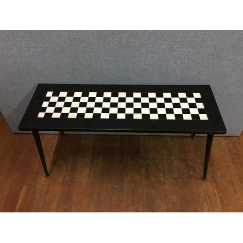 48 - Retro chess board table...