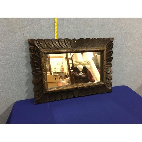 20 - Vintage wood framed mirror possibly Black forest....