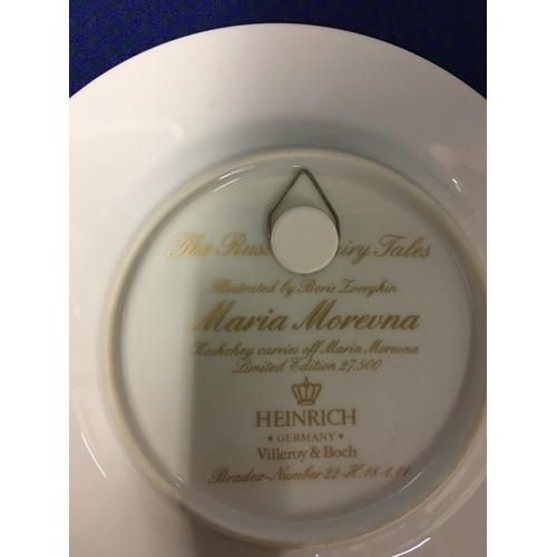 42 - Set of 13 German Heinrich Russian fairy tale plates....