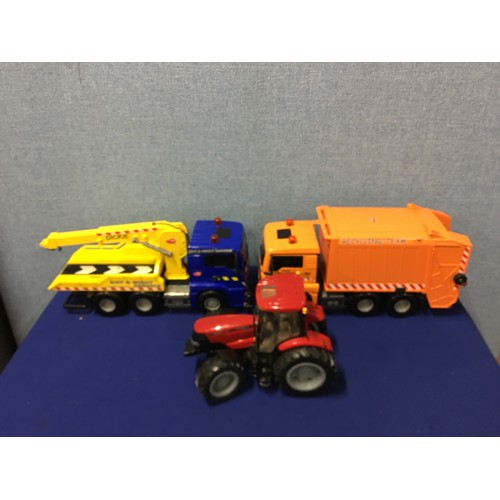 55 - 3 Large toy tractors...