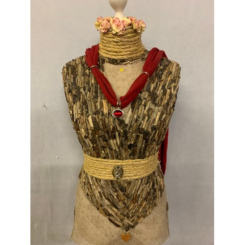 16 - Upcycled mannequin hand decorated with drift wood. Stands 145cm tall....