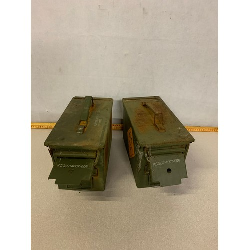 49 - Pair of vintage Ammo boxes....