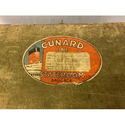 50 - Vintage Cunard line suitecase +1 other....