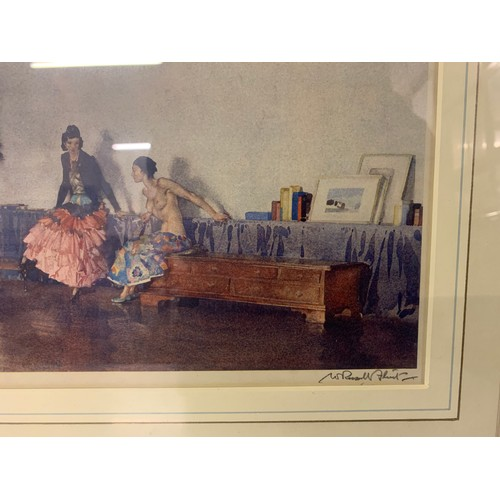 51 - pencil Signed Russell Flint print in gilt frame....