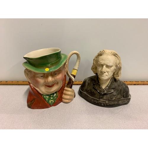 2 - Royal Doulton character jug and Franz Liszt bust....
