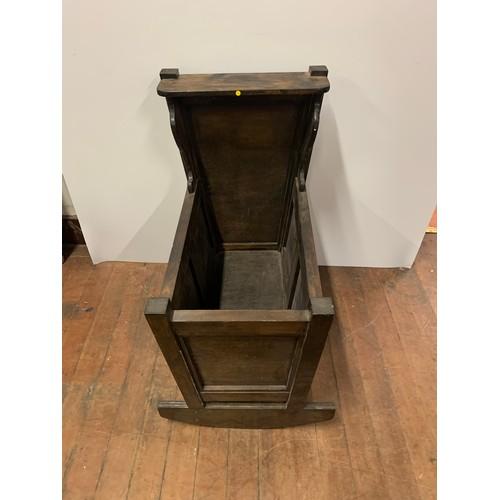 28 - Vintage wooden crib...
