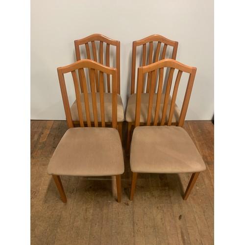 233 - Set of 4 teak dining chairs....