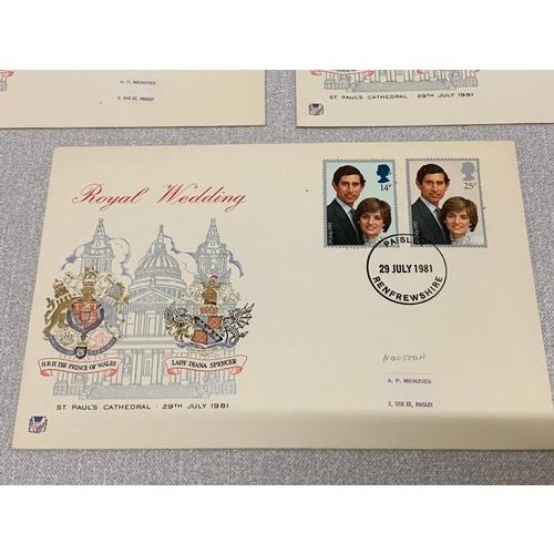 240 - 5 x Stuarts Royal Wedding 1981, St Pauls 1st day covers....