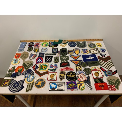 282 - Large qty of mixed embroidered badges....