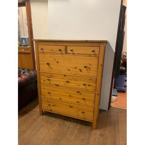 294 - Large pine 6 drawer chest....