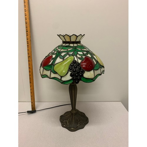 304 - Large tiffany style table lamp....