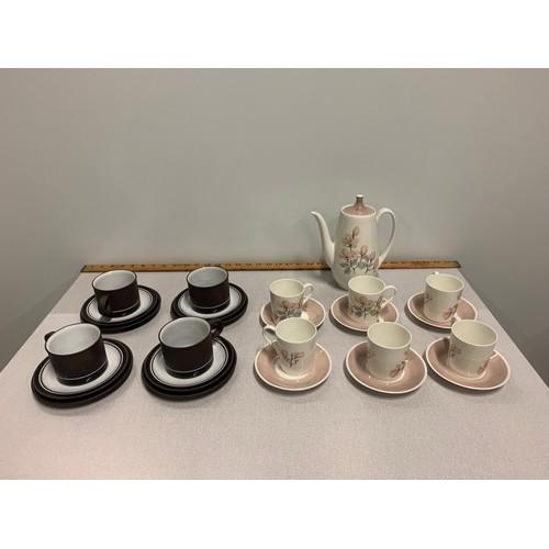 382 - 13 piece Royal Adderley tea set and 12 piece Hornsea tea set....