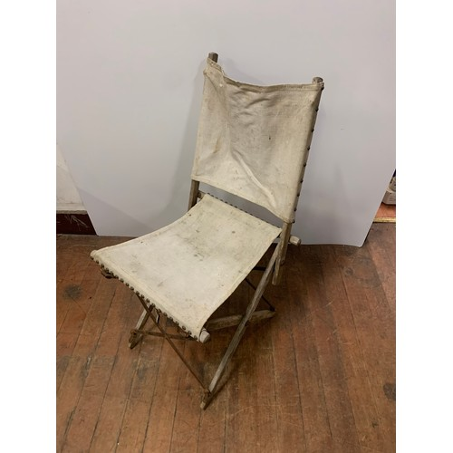 404 - Vintage military campaign chair....