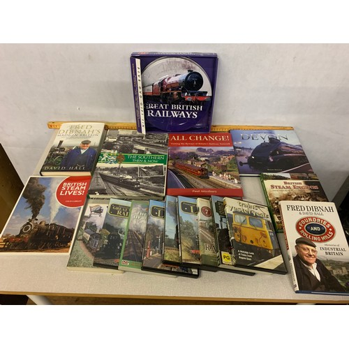 434 - Selection of Railway books and dvds...