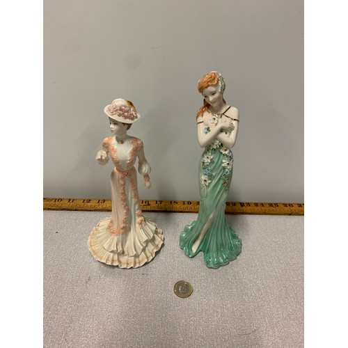 545 - 2 Coalport figurines....
