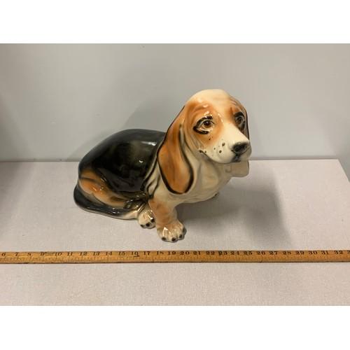 20 - Very large vintage ceramic fireside dog. 45cm l x 33cm h