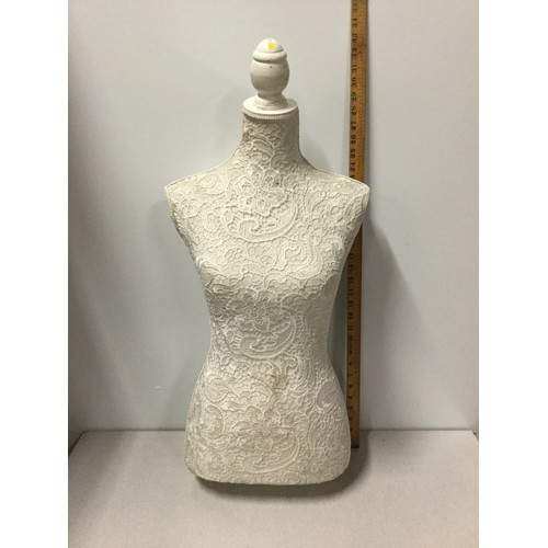 42 - Tailors dummy with lace overlay.