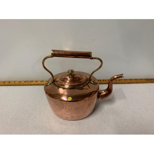 12 - Large copper kettle.
