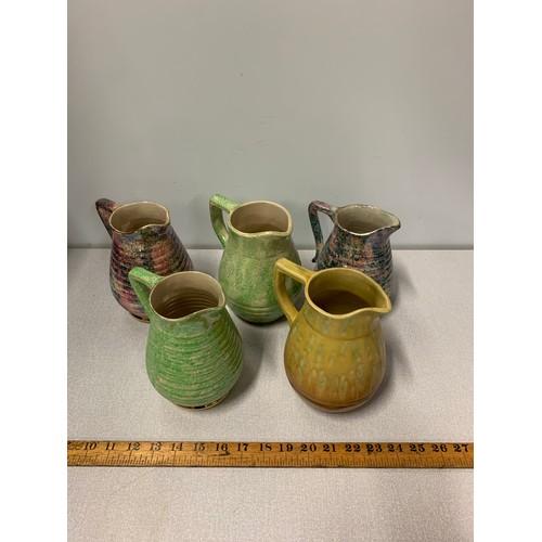 55 - 5 x Vintage Govancroft jugs.