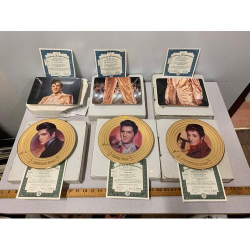 50 - 6 x Bradford Exchange Elvis Presley decorative plates all with certificates of authenticity.