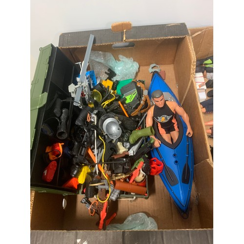 52 - Selection of Action Man figures along with large qty of Action Man accessories.