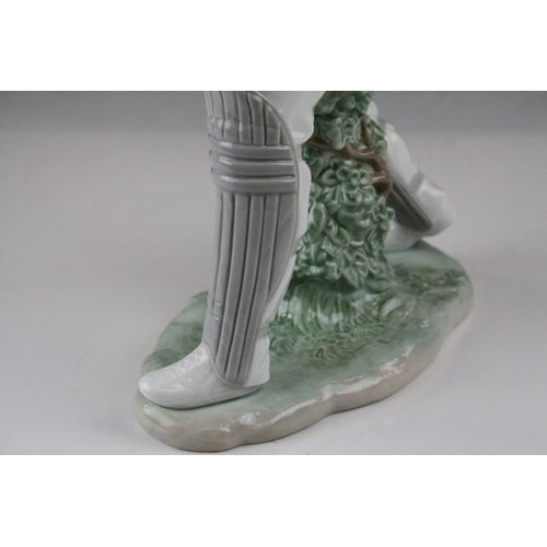 1 - Lladro Cricketer, model 6865, 2002, 41cms high...