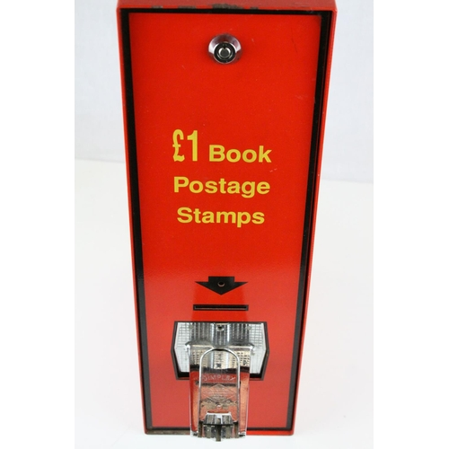 38 - Wall Mounted Post Office Stampbook Dispenser, 44cms high...