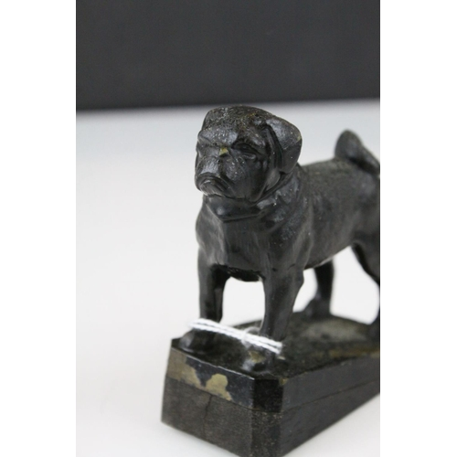 46 - Cast Metal Model of a Pug Dog, 9cms high...