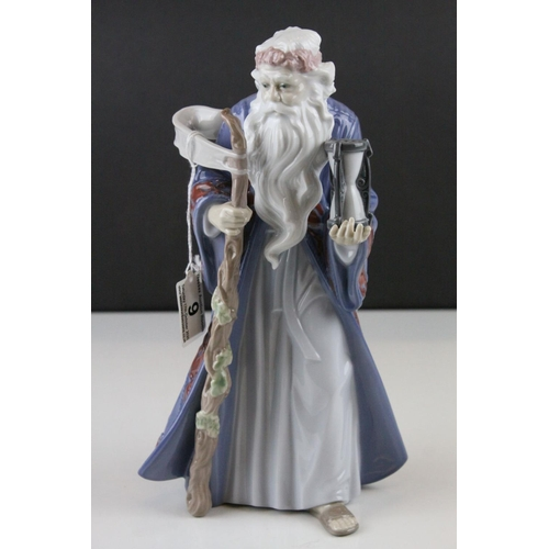 9 - Lladro Millennium Series, model no. 6696 ' Fathertime ', 1999, 25.5cms high...