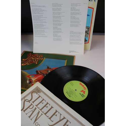 191 - Vinyl - Five Steeleye Span LPs to include Storm Force 10, Rocket Cottage, All Around My Hat, Below t...
