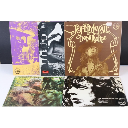413 - Vinyl - Five John Mayall LP's to include 4 Spanish pressings.  From the UK Beyond The Turning Point ...
