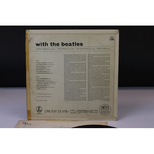 417 - Vinyl - The Beatles 4 LP's to include With The Beatles (PMC 1206) early copy with Emitex inner, Beat...