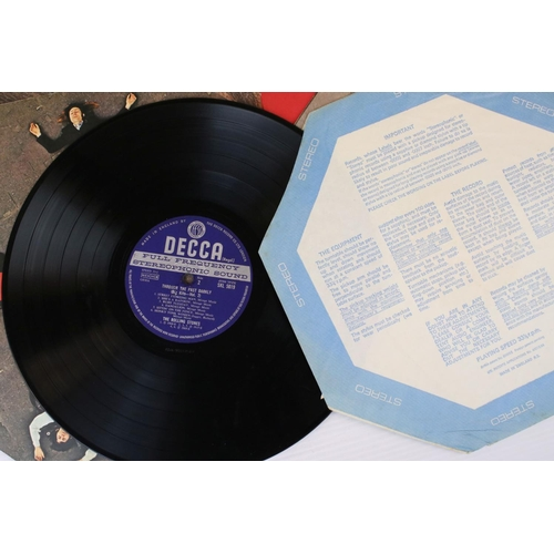 436 - Vinyl - Six Rolling Stones LP's to include Black & Blue, Through The Past Darkly (Big Hits Vol 2), S...