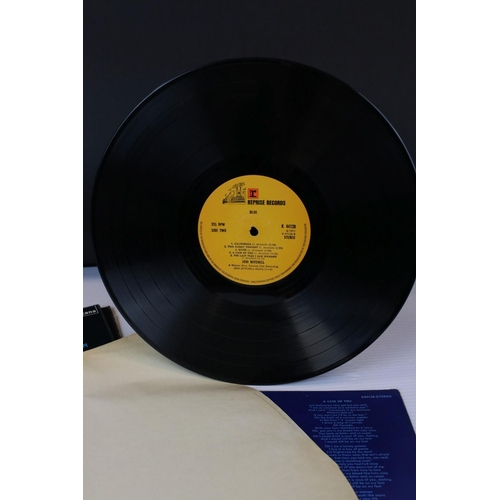 444 - Vinyl - Collection of 4 folk LP's to include Joni Mitchell Blue (K 44128), portrait of Joan Baez (TF...