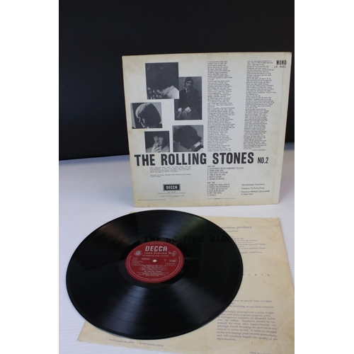 447 - Vinyl - Rolling Stones No.2 (Decca LK 4661), Mono.  A great example on the red unboxed Decca label w...