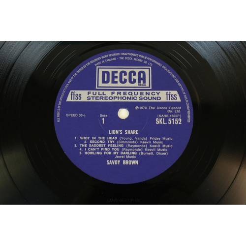 450 - Vinyl - Savoy Brown Blues Band 2 LP's to include Raw Sienna (Decca SKL 5043) stereo boxed Decca labe...
