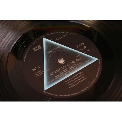 451 - Vinyl - Pink Floyd Dark Side Of The Moon (SHVL 804) right side opener, no posters or cards, no stick...