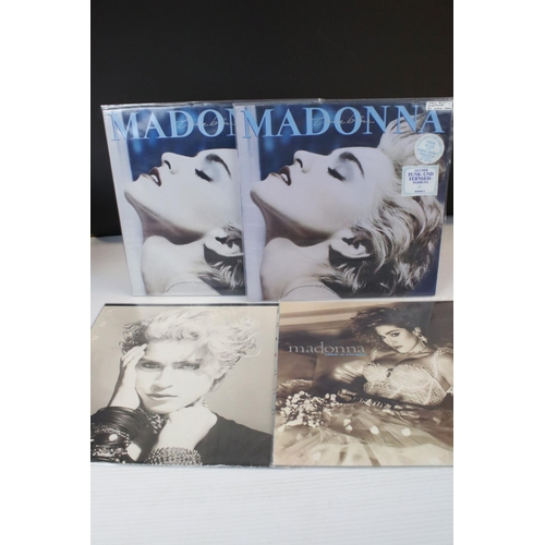 508 - Vinyl - Madonna 4 LP's to include Like A Virgin (Sire 925157) includes lyric inner, Self Titled (Sir...