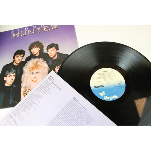 82 - Vinyl - Five Blondie LPs to include self titled CHR1165, Plastic Letters CHR1166, Eat to the Beat CD...